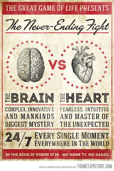 THE BRAIN VS THE HEART