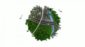 stock-footage-loop-able-d-animation-of-a-conceptual-globe-with-transports-city-and-nature-alpha-channel