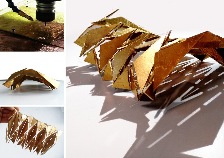 Brass origami