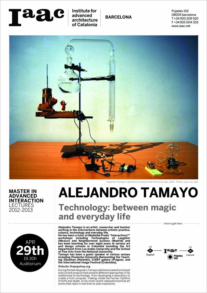ALEJANDRO TAMAYO lecturing at IAAC
