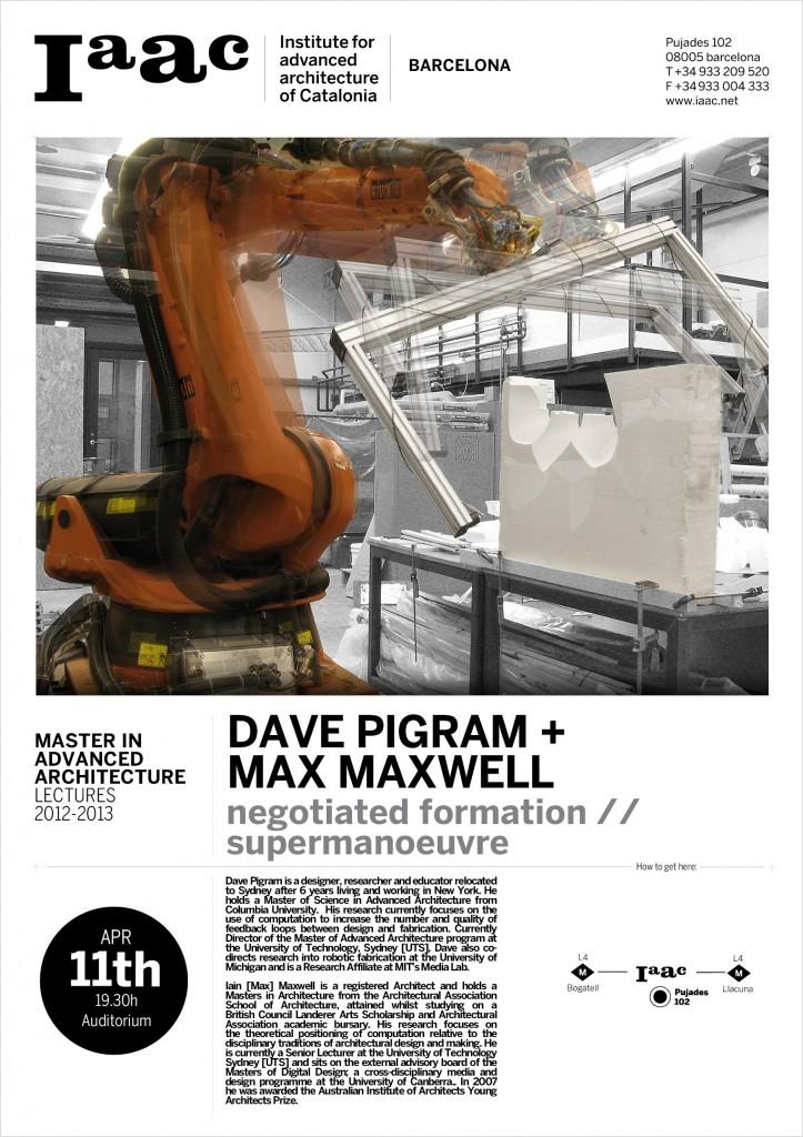 Pigram+Maxwell lecturing at IAAC - MAA 2012-2013
