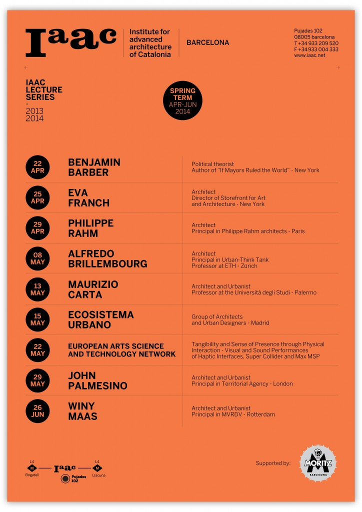 IAAC Spring Lecture series 2014